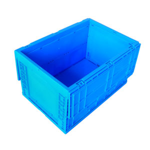 collapsible plastic crate on wheels