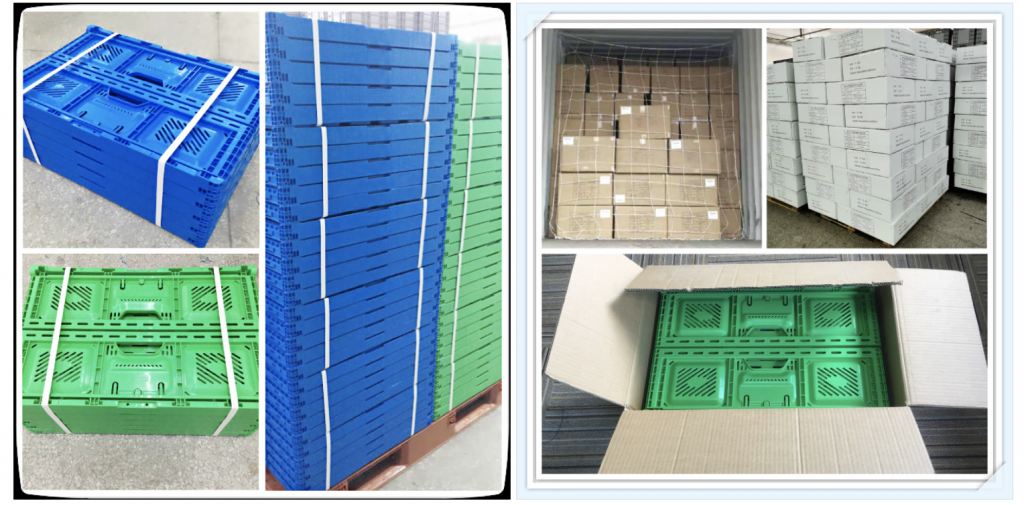 foldable crates for groceries delivery